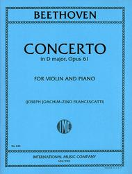 Concerto in D major, Op. 61 (With Cadenzas by Joachim)