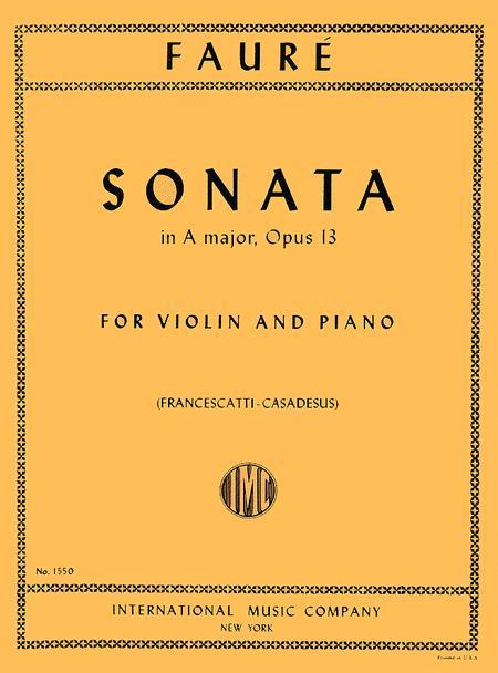 Sonata in A major, Opus 13