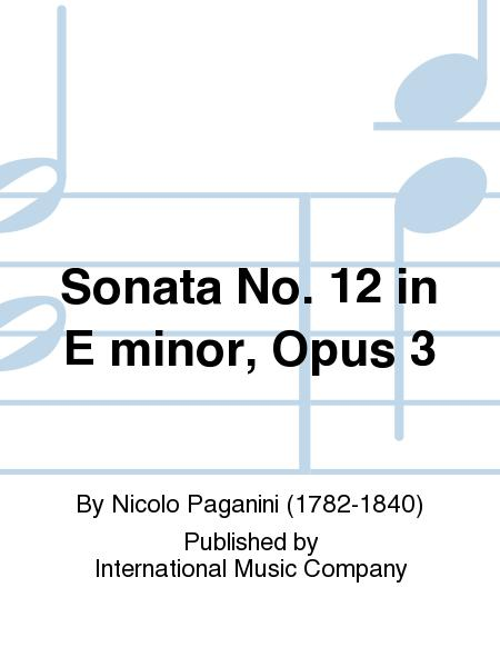 Sonata No. 12 in E minor, Opus 3