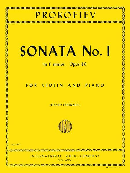 Sonata No. 1 in F minor, Op. 80