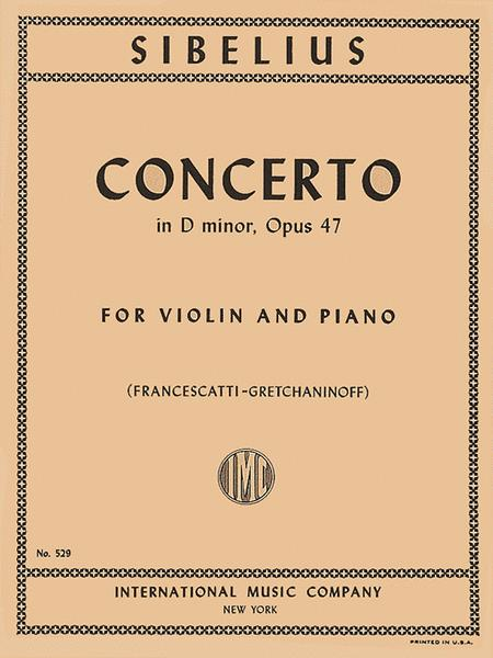 Concerto in D minor, Op. 47