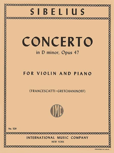 Concerto in D minor, Op. 47