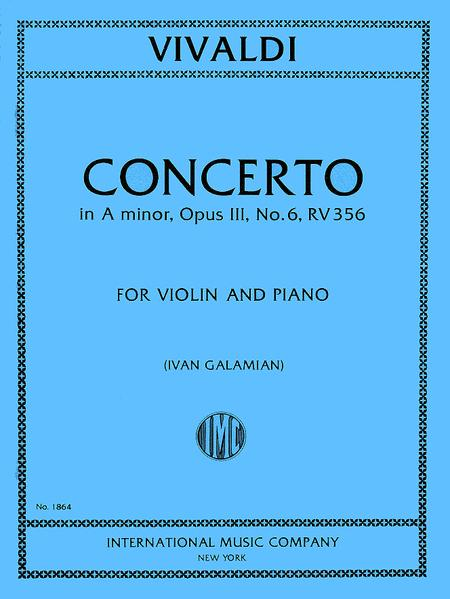 Concerto in A minor, RV 356 (Op. 3, No. 6)