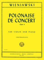 Polonaise de Concert in D major, Op. 4