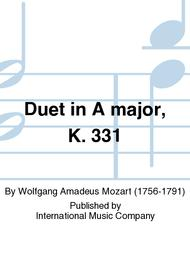 Duet in A major, K. 331