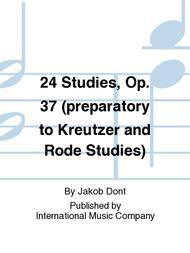 24 Studies, Op. 37 (preparatory to Kreutzer and Rode Studies)
