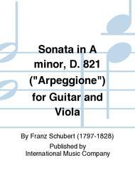 Sonata in A minor, D. 821 (