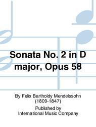 Sonata No. 2 in D major, Opus 58