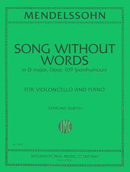 Song Without Words in D major, Op. 109 post.