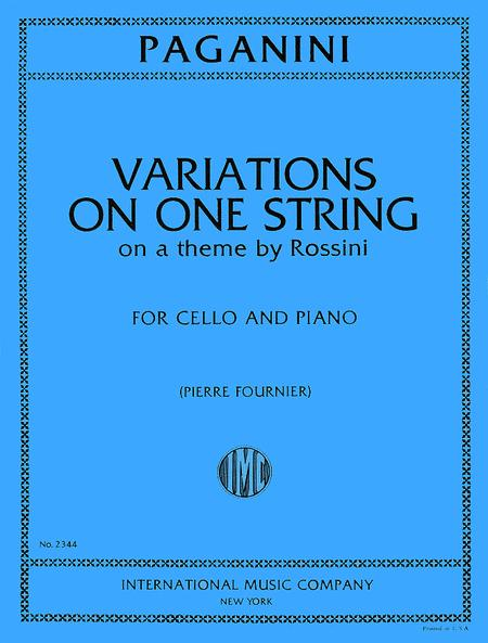 Variations on One String on a Theme from 'Moses' by Rossini