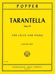 Tarantella Opus 33 By David Popper 1843 1913 Sheet