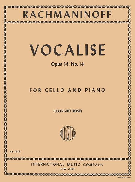 Vocalise - Opus 34, No. 14