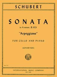 Sonata in A minor 'Arpeggione', D. 821