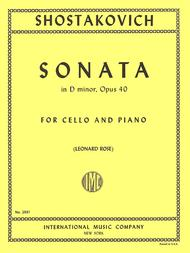 Sonata in D minor, Opus 40