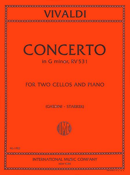 Concerto in G minor, RV 531 - for Two Cellos and Piano