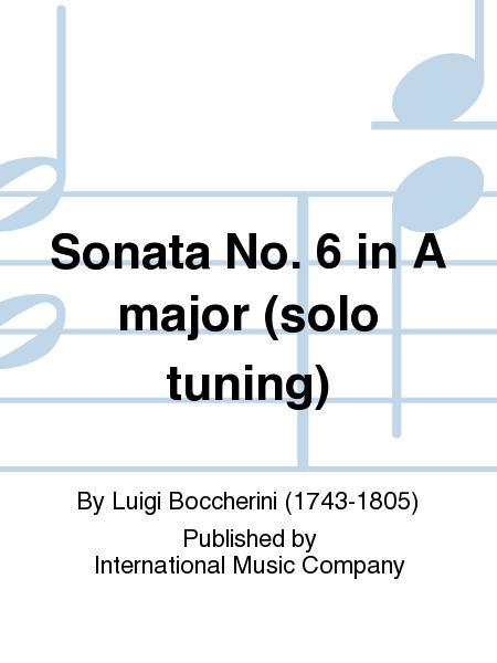 Sonata No. 6 in A major (solo tuning)
