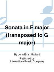 Sonata in F major (transposed to G major)