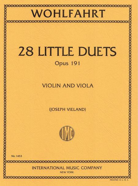 28 Easy Duets (1st position) Opus 191