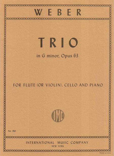 Trio in G minor, Opus 63 for Piano, Flute (or Violin) and Cello