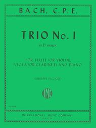 Trio No. 1 in D major for Flute, Clarinet & Piano or Flute (Violin), Viola & Piano