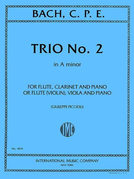 Trio No. 2 in A minor for Flute, Clarinet & Piano or Flute (Violin), Viola & Piano