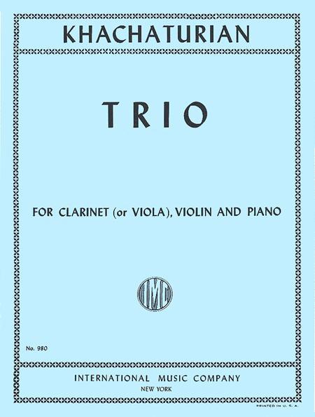 Trio for Clarinet (or Viola), Violin & Piano