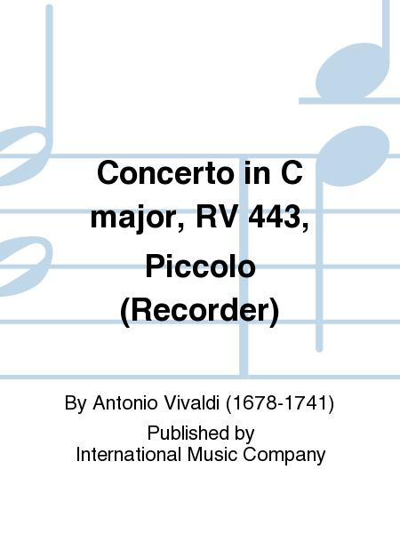 Concerto in C major, RV 443, Piccolo (Recorder)