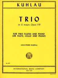 Trio in G major, Op. 119 for Flute, Cello & Piano or 2 Flutes & Piano
