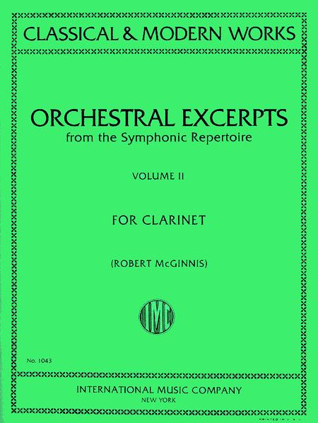 Orchestral Excerpts From Classical And Modern Works, Volume II - CLARINET
