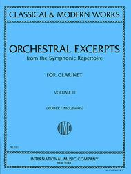 Orchestral Excerpts From Classical And Modern Works, Volume III - CLARINET