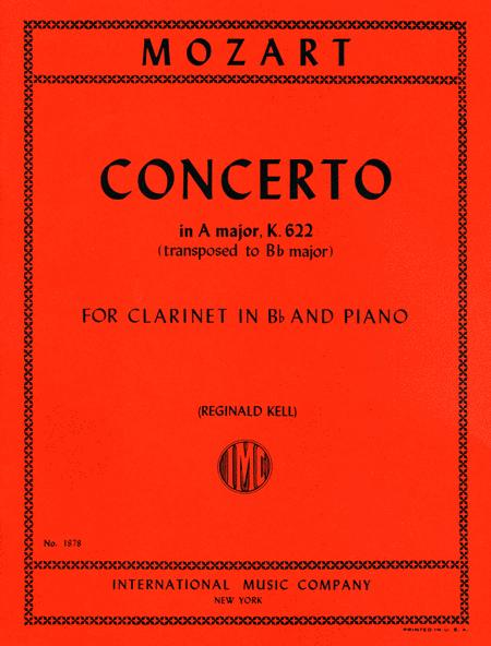 Concerto in A major, K. 622 (Authentic edition) - Edition for Clarinet in B flat