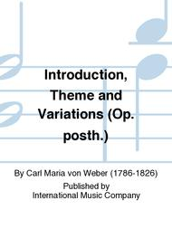 Introduction, Theme and Variations (Op. posth.)