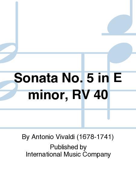 Sonata No. 5 in E minor, RV 40
