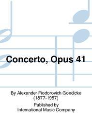 Concerto, Opus 41