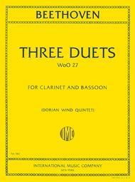 Three Duets for Clarinet & Bassoon (WoO.27)