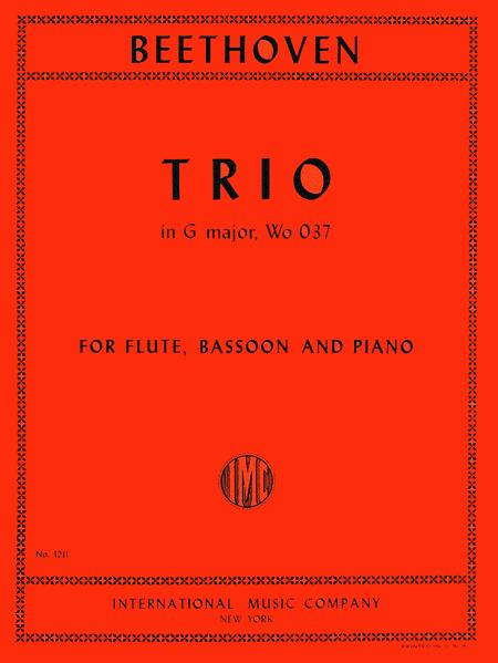 Trio in G Major, WoO 37 for Flute (or Violin), Bassoon (or Cello) & Piano