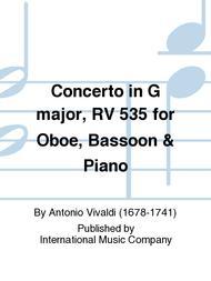 Concerto in G Major, RV 535 for Oboe, Bassoon & Piano