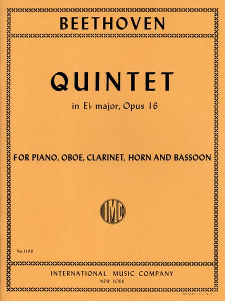 Quintet in E flat major, Opus 16 for Oboe, Clarinet, Horn in E flat, Bassoon & Piano