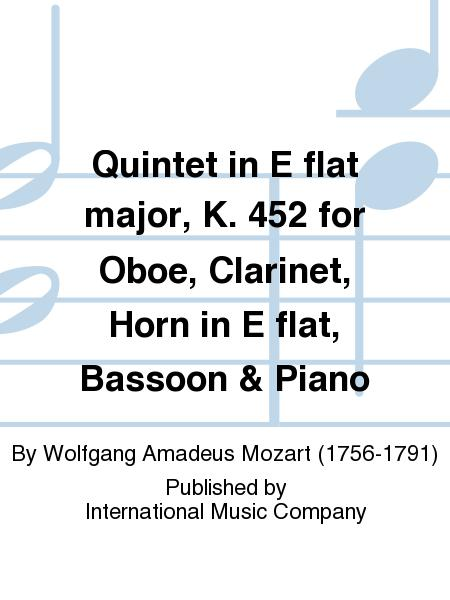 Quintet in E flat major, K. 452 for Oboe, Clarinet, Horn in E flat, Bassoon & Piano