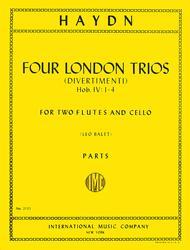 Four London Trios (Divermenti), Hob. IV: Nos. 1-4 for 2 Flutes and Cello