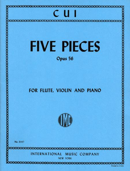 Five Pieces, Opus 56 for Flute, Violin & Piano