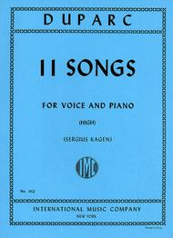 Eleven Songs for High Voice