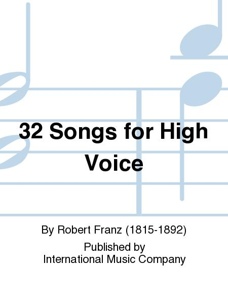 32 Songs for High Voice