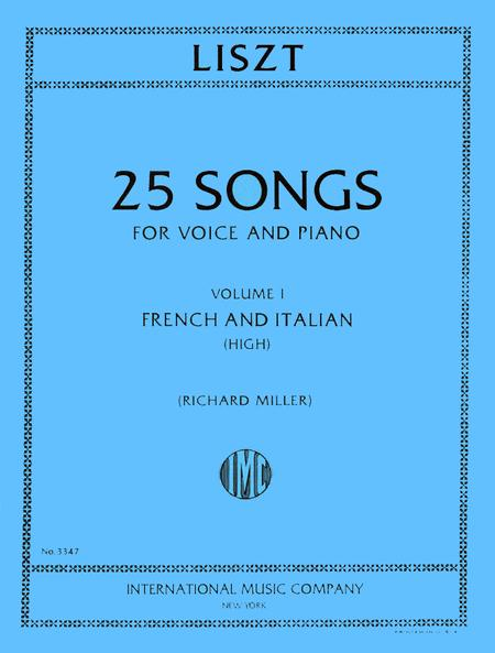 Songs for High Voice - Volume I (French and Italian)