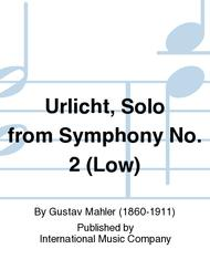 Urlicht, Solo from Symphony No. 2 (Low)