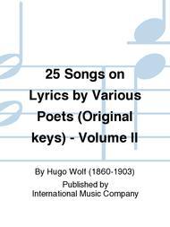 25 Songs on Lyrics by Various Poets (Original keys) - Volume II