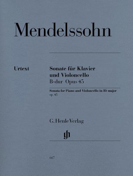 Sonata for Piano and Violoncello B Flat Major Op. 45