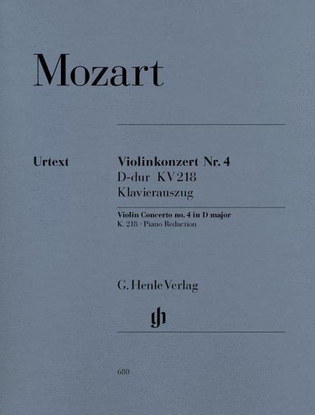 Violin Concerto No. 4 in D Major K218