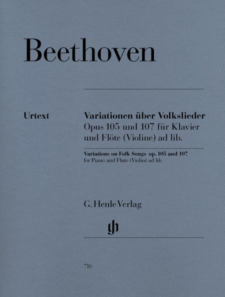 Variations on Folk Songs, Op. 105 and 107