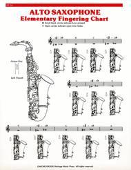Elementary fingering chart alto sax sheet music sheet music plus
